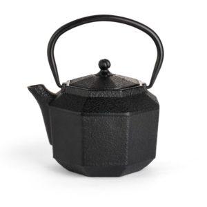 bredemeijer gietijzeren theepot achthoekig zwart 1,0 liter
