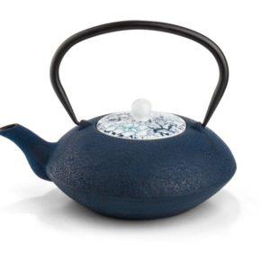 bredemeijer gietijzer blauw met porseleinen deksel