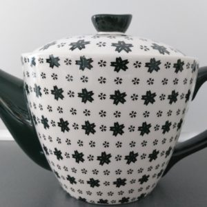 grafische design zwart witte theepot 1,8 liter