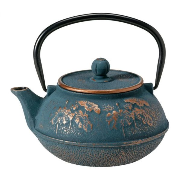 blauw brons gietijzeren theepot
