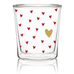 dubbelwandig hartjes glas